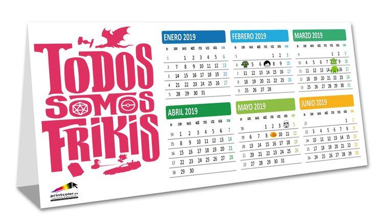 Calendario Todos Somos Frikis 2019