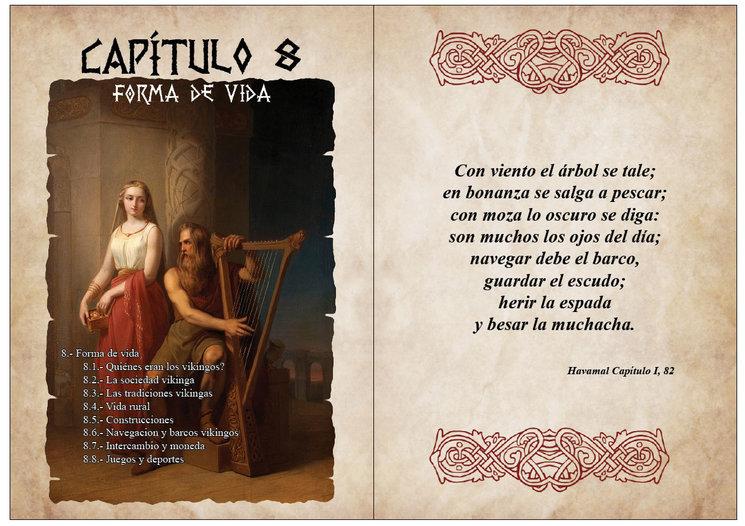 Portada Capítulo 8 sobre la forma de vida de los vikingos.