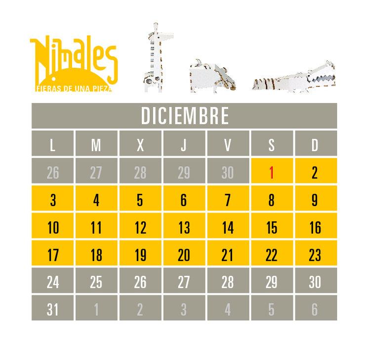 Calendario con la estimación de producción y entrega de los Nimales.