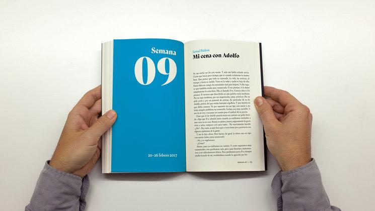 Ejemplo de secciones del libro, organizado por semanas.