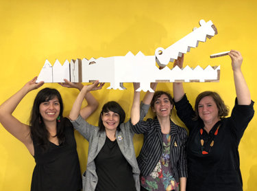 Nicoco XXL en las nubes con el mejor de los equipos: Daniela, Patricia, Raquel y Ellen.