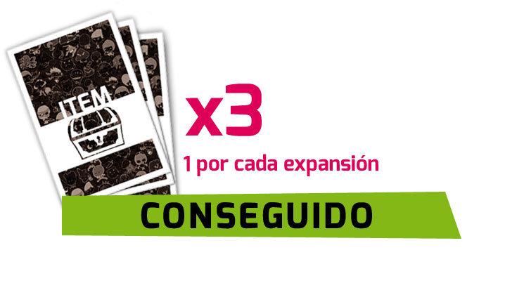 CONSEGUIDAS 3 CARTAS EXTRA ITEM!