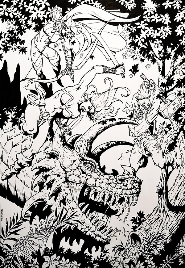Nuevo dibujo original de Santiago Girón en A3.
