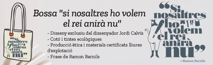 Bossa dissenyada pel Jordi Calvís, de cotó ecològica i antimonàrquica, què més es pot demanar?