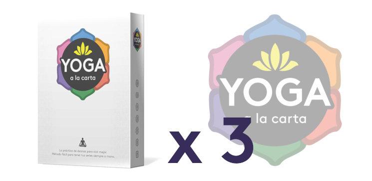 Y si quieres para regalar  3 ejemplares de Yoga a la carta bdd12e832365