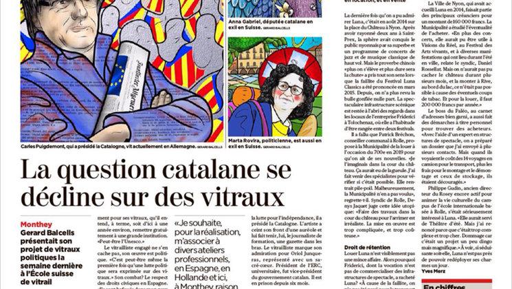 El diari 24Heures en la seva edició del 7 de maig de 2018