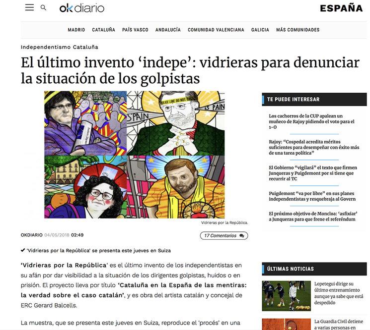 Ok Diario també ho va recollir amb un altre to, des d