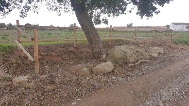 La roca de la Delfina al camí vell de Mafet