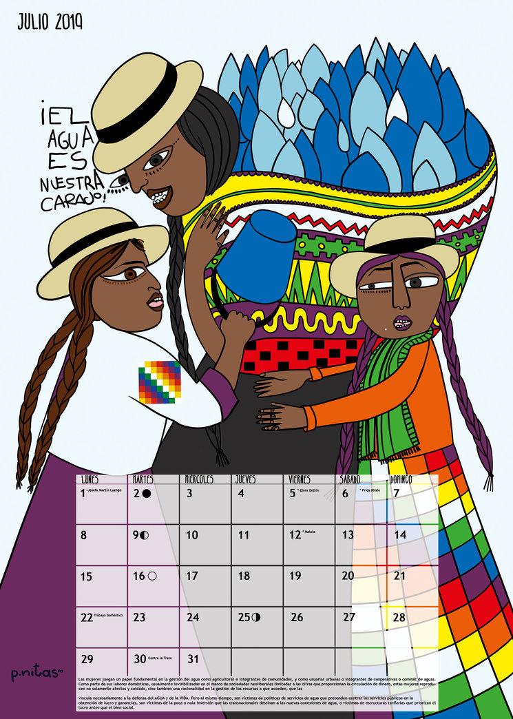 Julio 2019 Las mujeres de Cochabamba en la Guerra del Agua por la defensa de los recursos hídricos