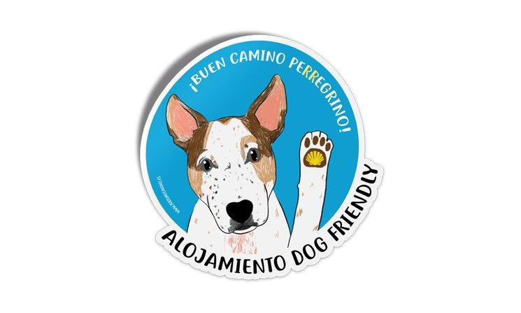 Pegatina para alojamientos dog friendly