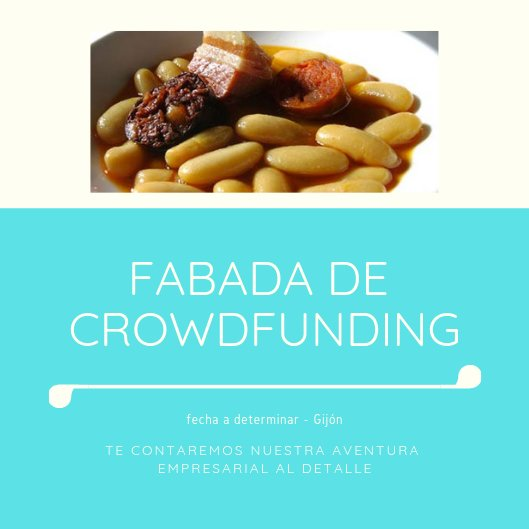 'Typical Asturian fabada' for super crowdfunding