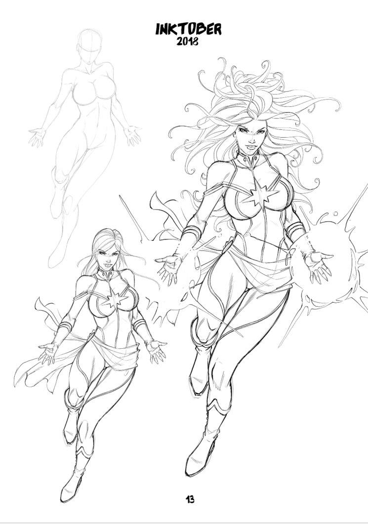 Página del desarrollo de Capitana Marvel