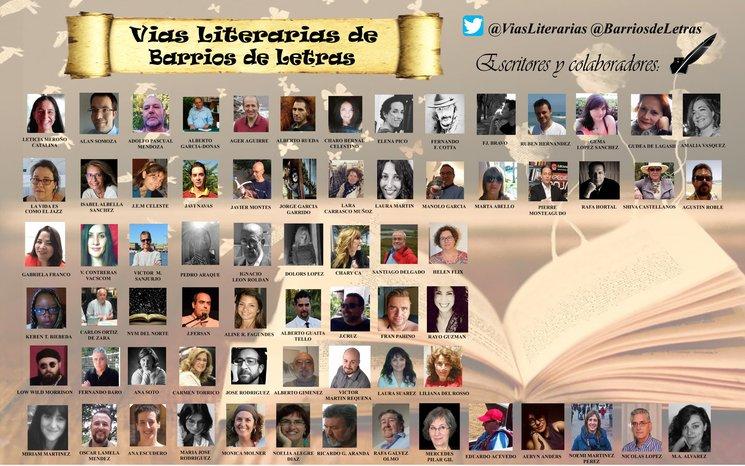 Autores en las @ViasLiterarias de @BarriosdeLetras
