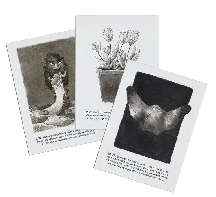 Ejemplos de láminas en blanco y negro
