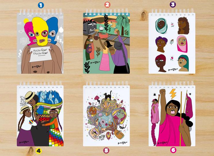 3 de estas 6 ilustraciones se convertirán en el pack de libretinas