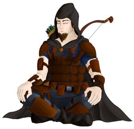 Personaje en Shaidraig de nuestro ilustrador