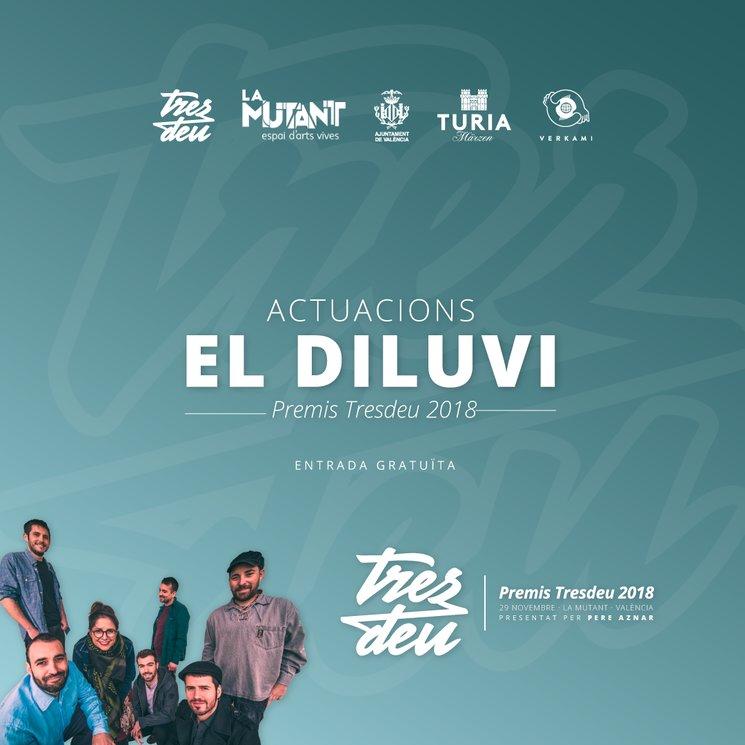 El Diluvi completa el cartell musical de la gala dels Premis Tresdeu