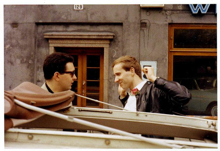 Paco Uriz y Skold Peter Matthis, poco antes de iniciar el viaje a España para encontrarse con Chicho.