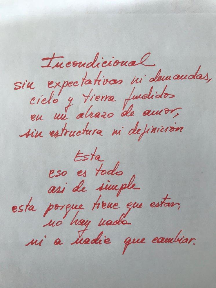 Adelanto Poema Manuscrito Del Libro Que Soy Del Aire Cd