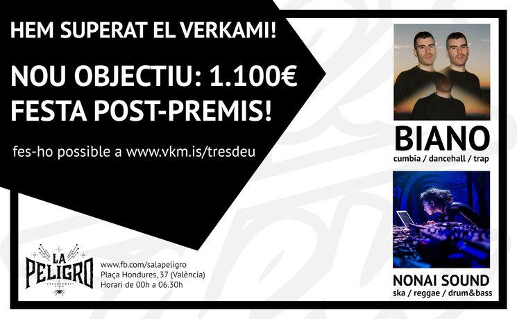 GRÀCIES! 🎉 NOU OBJECTIU 1.100: FESTA POST-PARTY AMB BIANO I NONAI!