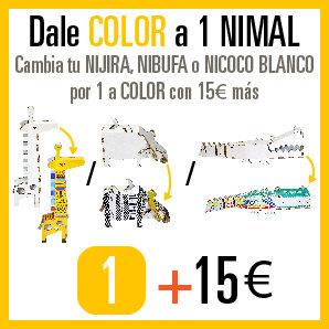 Cambia tu NIJIRA, NIBUFA o NICOCO BLANCO por 1 a COLOR con 15€ más.
