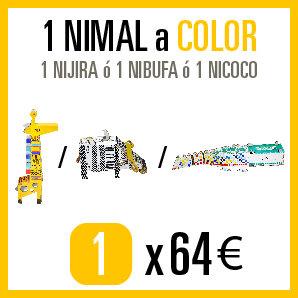 Consigue 1 NIJIRA ó 1 NIBUFA ó 1 NICOCO a COLOR por 64€.