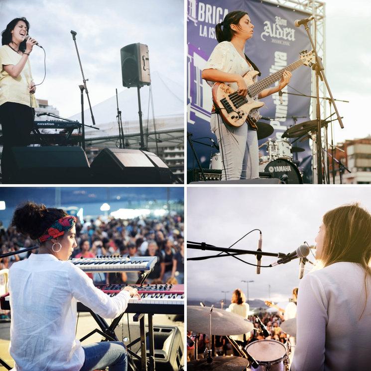 Núria Balaguer (voice), Marta Bautista (bass), Paula Vegas (keyboards & synthesizer) and Xerach Peñate (drums)