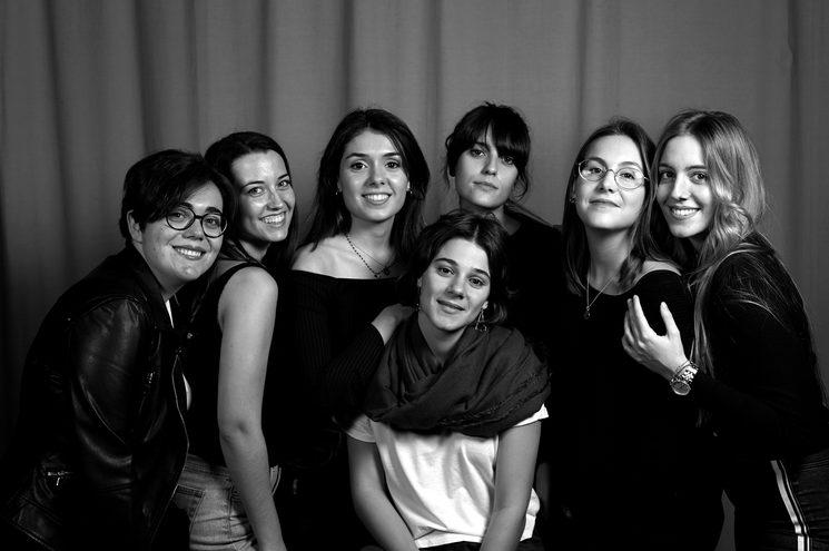 Neus, Maria, Ángela, Iria, Bàrbara, Laia i Berta.