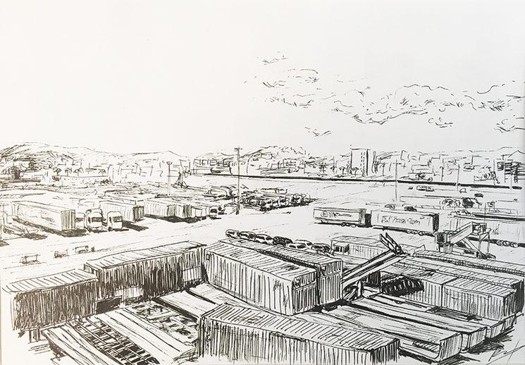 Dibujo a tinta DIN A4