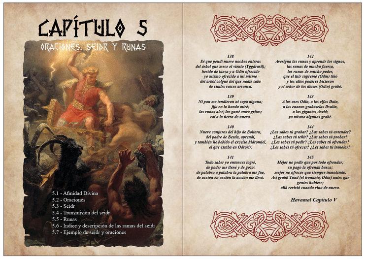 Portada del Capítulo 5 dedicado a las oraciones y el Seidr, o magia en Vikingos.