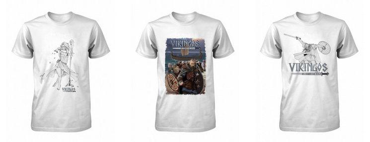 Ejemplo de diseño de algunas de las camisetas de Vikingos.