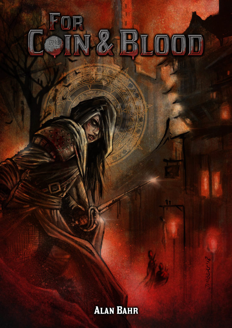 Portada definitiva de For Coin & Blood.