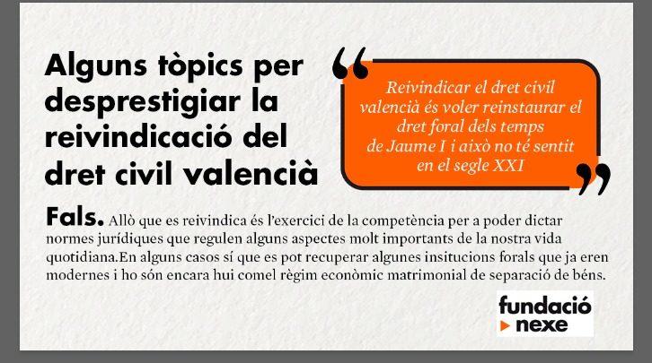 Raons per reclamar el dret civil valencià #1