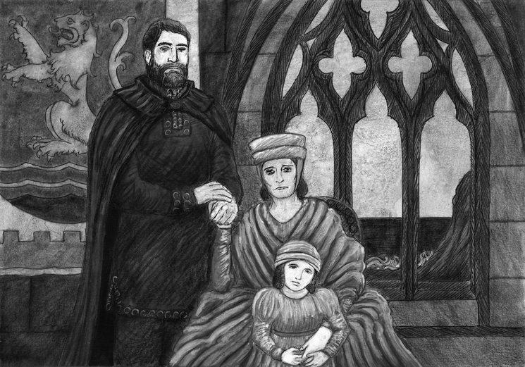 Retrato de la familia Lonsdale. Ilustración de Daniel Puerta.