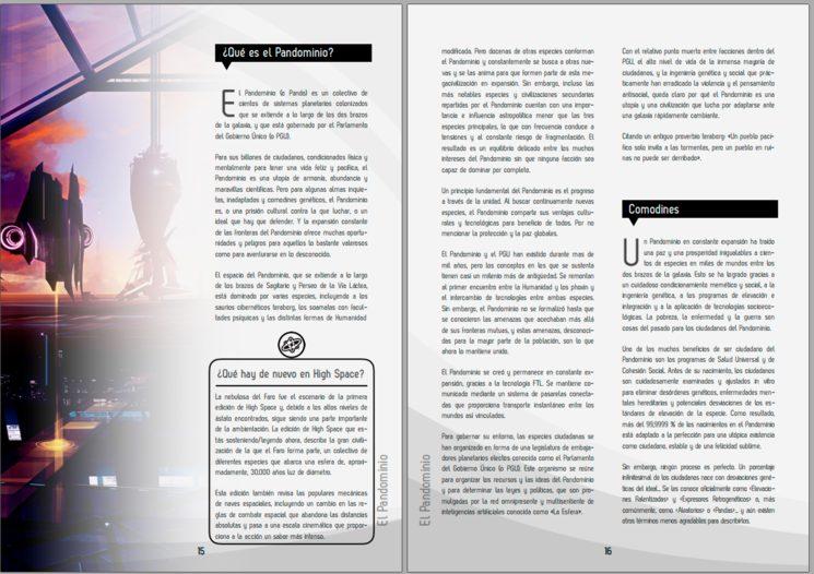 Ejemplo de maquetación del libro. El producto final puede variar levemente