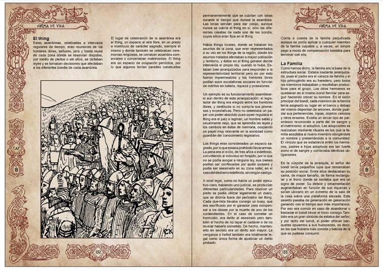 pre-maquetación de la versión en color de Vikingos. Capítulo 8 forma de vida.