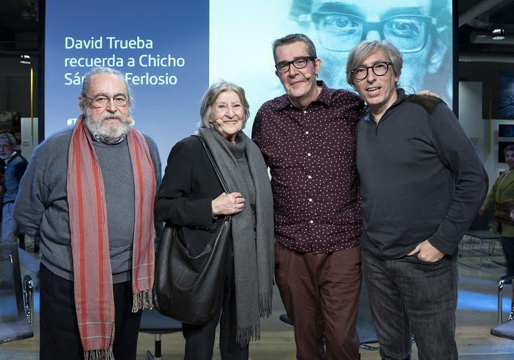 Jesús Munárriz, Ana Guardione, Máximo Pradera y David Trueba, en la presentación en la Fundación Telefónica. Foto cortesía de Fundación Telefónica/Irene Medina