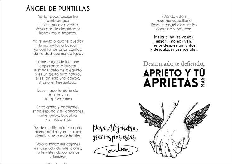 """Letra de """"Ángel de puntillas"""" con dedicatoria fictícia de Tontxu"""