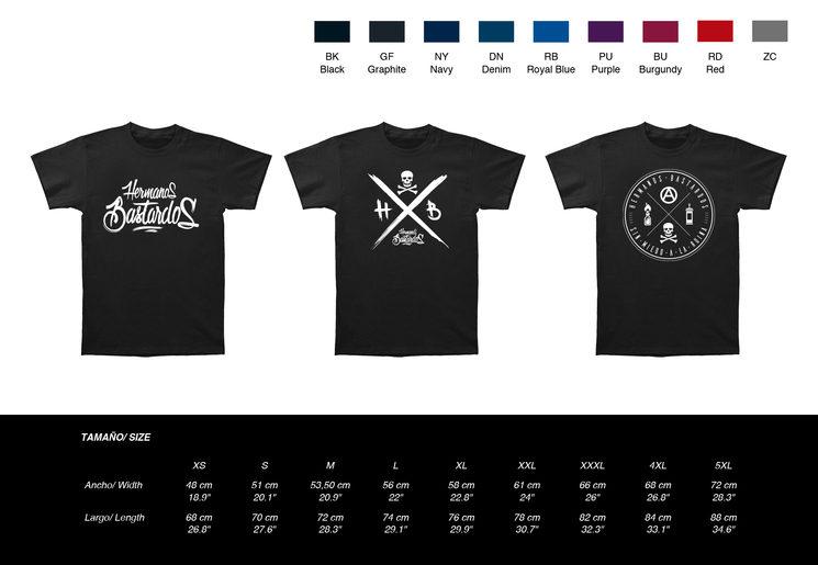 Camisetas, colores, diseño y talla a elegir