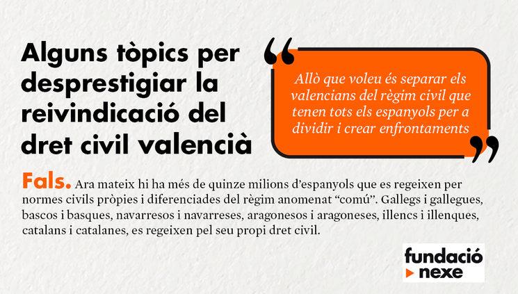 Raons per reclamar el dret civil valencià #2