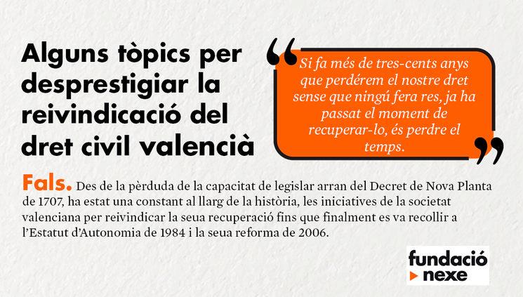 Raons per reclamar el dret civil valencià #3