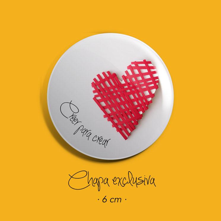 Chapa corazón 6cm