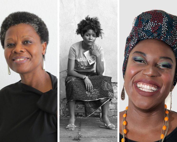 (De izq. a dcha.) Angela Nzambi, Agness Essonti y Diserée Bela Lobbede.