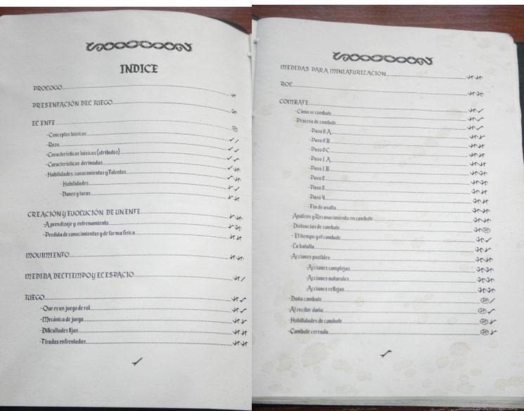 Fotos del indice (Disculpad la calidad, se pierde al subirla)