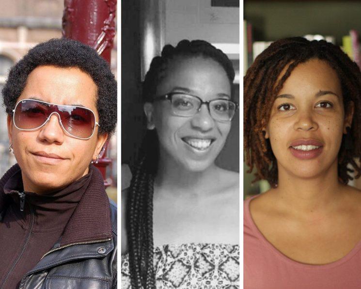 (De izq. a dcha.) Esther Mayoko, Noemí Ondo Mesa y Deborah Ekoka Hernandis.