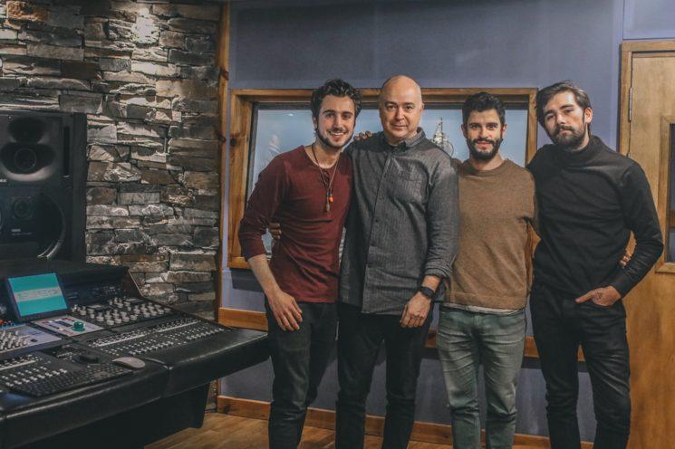 De derecha a izquierda: Jacob, Manuel Colmenero, Sergio Delgado y Adrián Seijas