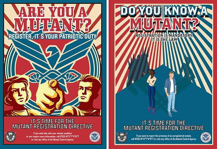 Mutant Registration Directive. It is the LAW!