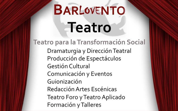 Algunos miembros de Barlovento Teatro<br/> De izquierda a derecha: Beatriz Velilla, Natxo F. Laguna, Macarena Robledo, Elena Arizón, Luis Flox, Luis Seguí