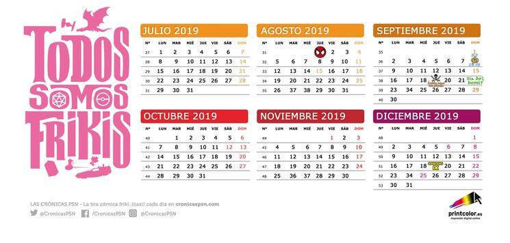 Calendario Fisico.Calendario Todos Somos Frikis 2019 Todos Somos Frikis