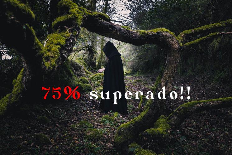 75% superado!